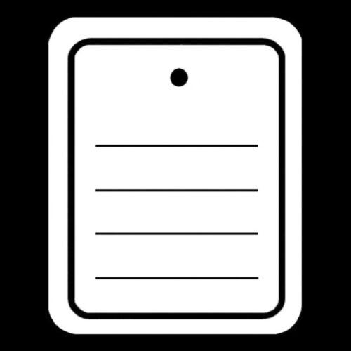 EE330= 400 Etiketten 40x50 liniert ohne Öse weiß lose Karton Hänge Preisschild