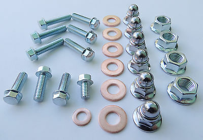HONDA ATC250R ENGINE TOP END BOLT KIT with M8 CHROME CAP NUTS for Cylinder Head