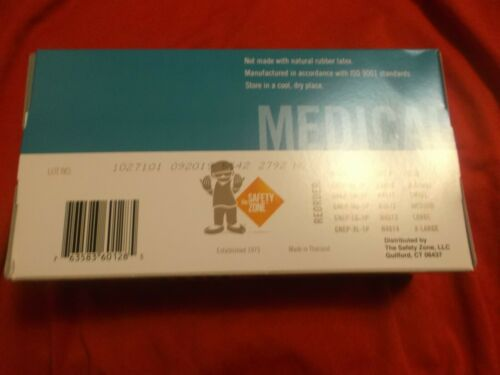 New Box of 100 Indigo Nitrile Exam Gloves Size Medium-FAST SHIPPING FROM USA