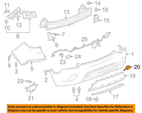 Buick GM OEM 13-16 Encore Rear Bumper-Tow Hook Eye Cap Cover 95261119