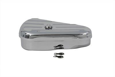 Tools are not included Replica chrome left side oval tool box includes keys