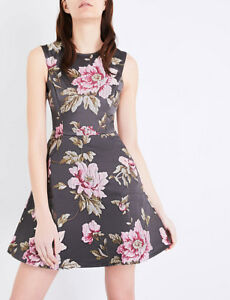 e4d4749fab Image is loading Ted-Baker-Kinella-Floral-Jacquard-Skater-Dress-Ted-