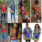 Women African Print Dashiki Dress shirt Boho Hippie Gypsy Party men Kaftan