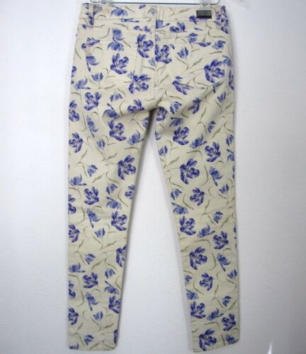 Angelo Floral Skyline 28 Paige In Avorio Usa Los Made taglia Peg Pantaloni Angeles Jeans 4TwqZ7P4