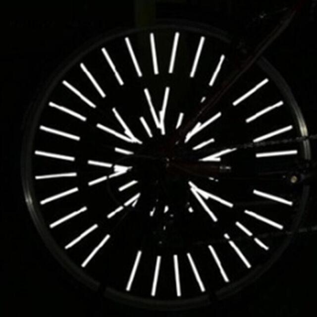 36pcs Bike Wheel Spoke Reflector Reflective Mount Clip Tube Cycling Accessori BH