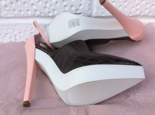 39 Rose Talons 6uk Blanc Stella Marron Mccartney Nouveau Pumps xwXpEta