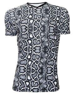 Men/'s Monochrome Checkerboard Chess Check Print V-Neck T-Shirt Top Tee Fashion