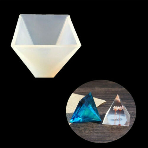 Pyramid Silicone Mold Resin Jewelry Making Mould Epoxy Pendant Craft DIY Tool