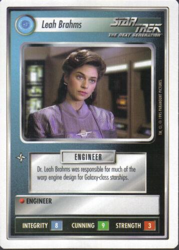 STAR TREK CCG WHITE BORDER PREMIERE 1995 BETA RARE CARD LEAH BRAHMS