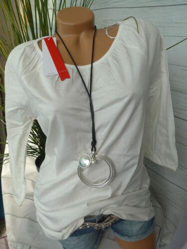 998 NEU Sheego Shirt Tunika Gr 40//42 Creme weiß Ton
