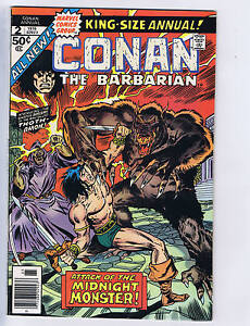 Conan the Barbarian King Size Annual #2 Marvel 1976