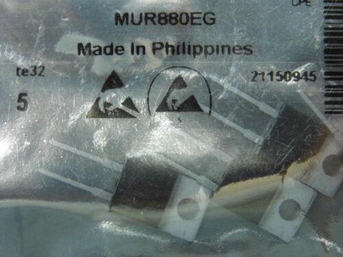 diode MUR 880 EG Lot de 5 MUR880EG dans un sachet antistatique DO220