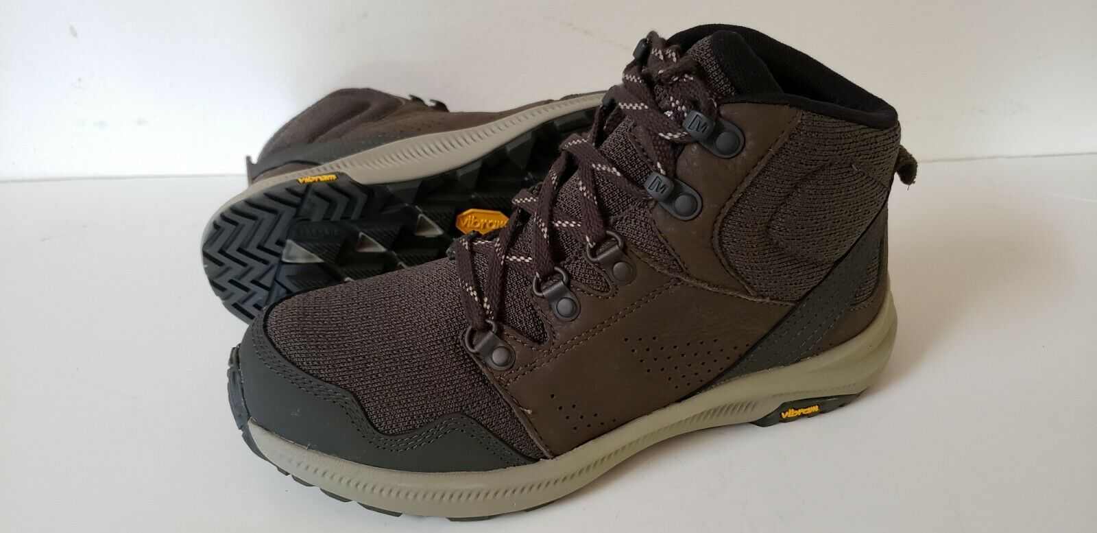 MW70 New Merrell Ontario Mid Knit Ankle  Hiking Trail Vibram Boots Women 7 Brown  2018 latest