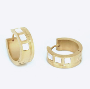Das Bild wird geladen Titan-Titanium-Klappcreolen-Kreolen-Ohrringe -Perlmutt-vergoldet-Damen- 724d2807f6