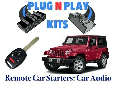 WITH 2000ft Remotes 2007-2018 Jeep Wrangler Plug and Play Remote Start