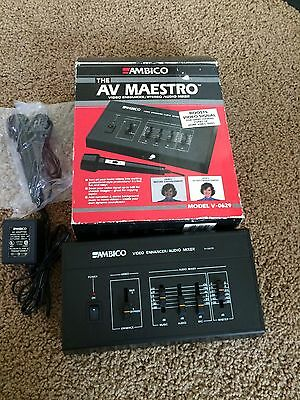 Audio For Video Ambico Av Maestro V0629 Video Enhancer Stereo Audio Mixer Reasonable Price Video Production & Editing