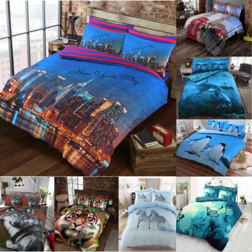 Duvet Cover Set 3D Animal Print Bedding Pillow Cases All Size King Double Single