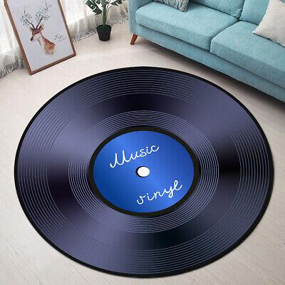 Round Floor Mat Bedroom Rug Living Room Area Rugs Vinyl Records Music Background