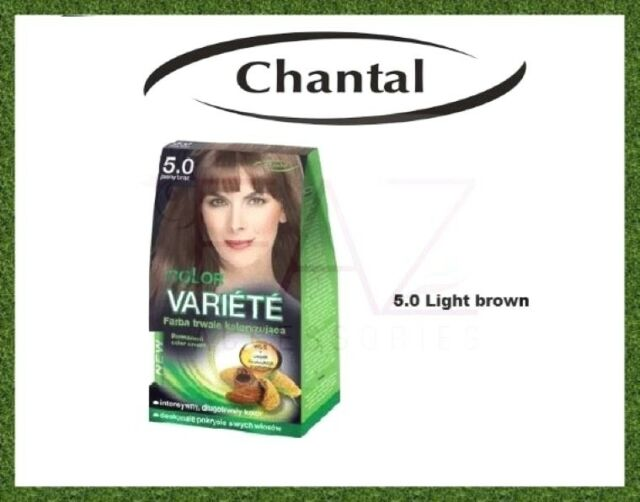 eb1ea4b50f1 Chantal Color VARIETE Permanent Hair Colour X2 Pcs 5.0 Light Brown ...