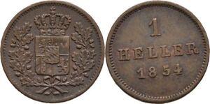 Heller-1854-Bayern-Muenchen-Maximilian-II-Joseph-1848-1864-Loewe-Krone-DXP156