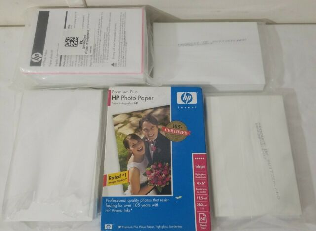 HP 4 X 6 High Gloss Photo Paper 320 Ct.  Free Shipping