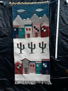 Hand Woven ZAPOTEC Mexican WOOL Rug