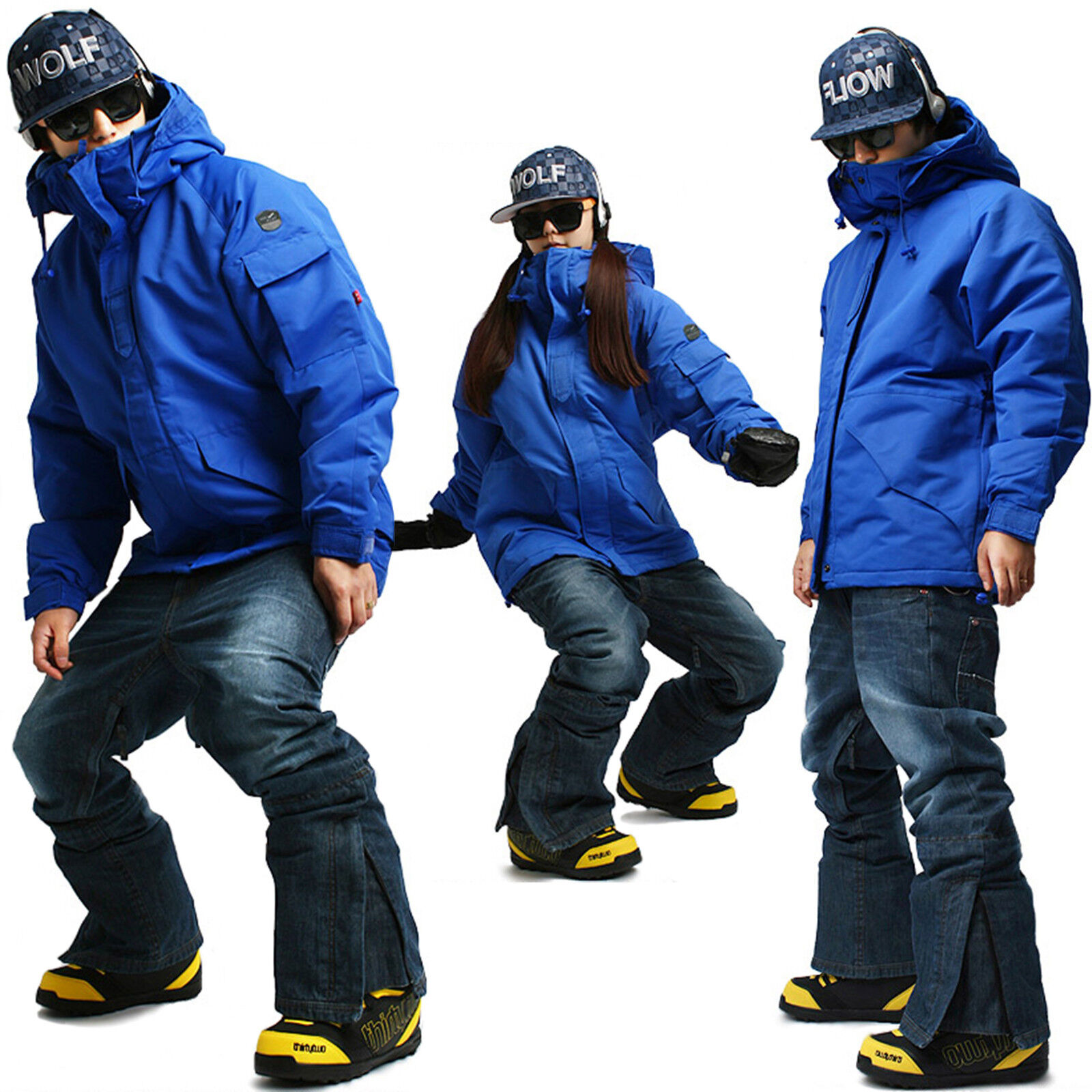 SOUTH PLAY Best Quality Ski Snowboard Jumper Blazer Jacket Pants Suits Blau SET