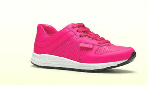 c7e9c716b88 Image is loading ATHENTIC-Limited-Gucci-Neon-Pink-Gucci-Logo-Sneakers-