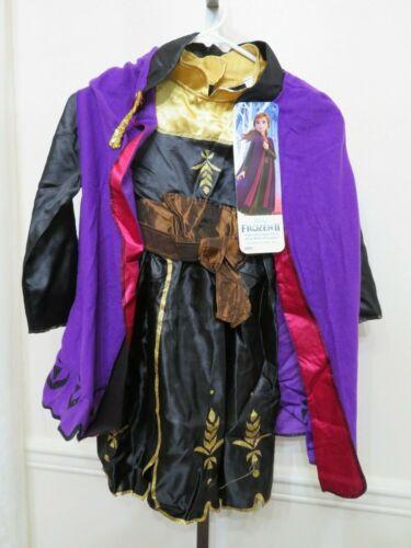 DISNEY/'S FROZEN 2 ANNA DRESS /& CAP COSTUME W BOOTS SIZE 4-6X