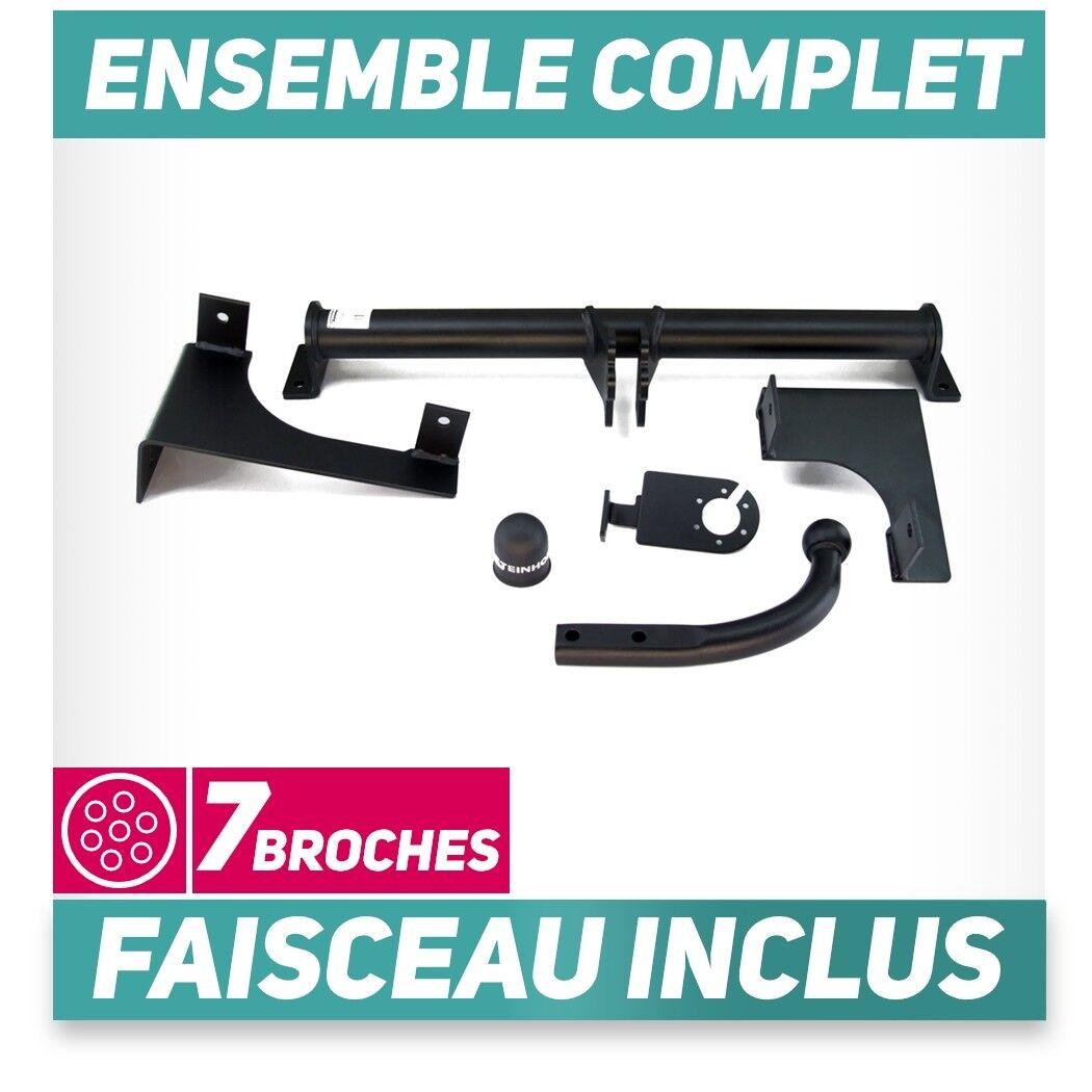 7 broches Attelage pour Peugeot 308 Break SW 14 Amovible Auto Hak Faisceau u
