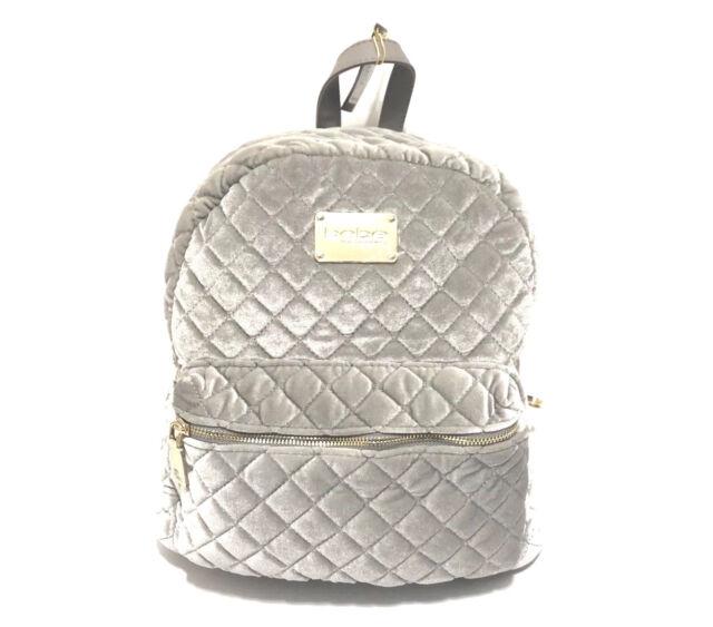 42ed310059 bebe Women s Maria Velvet Quilted Large Backpack Platinum Grey for ...