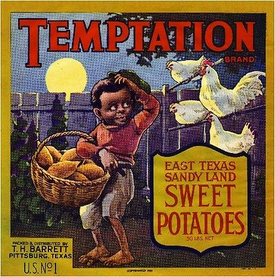 Lawtell Louisiana Panther Sweet Potato Yam Yams Vegetable Crate Label Art Print