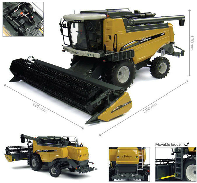 Universal Hobbies Models Challenger 645C COMBINE HARVESTER NEW OVP