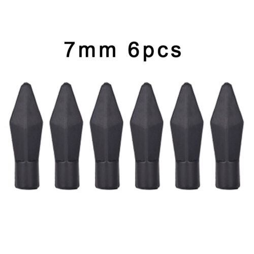 6pcs 7mm//8mm Soft Rubber Arrowheads Arrow Tips Archery  For Stump Or Small Game