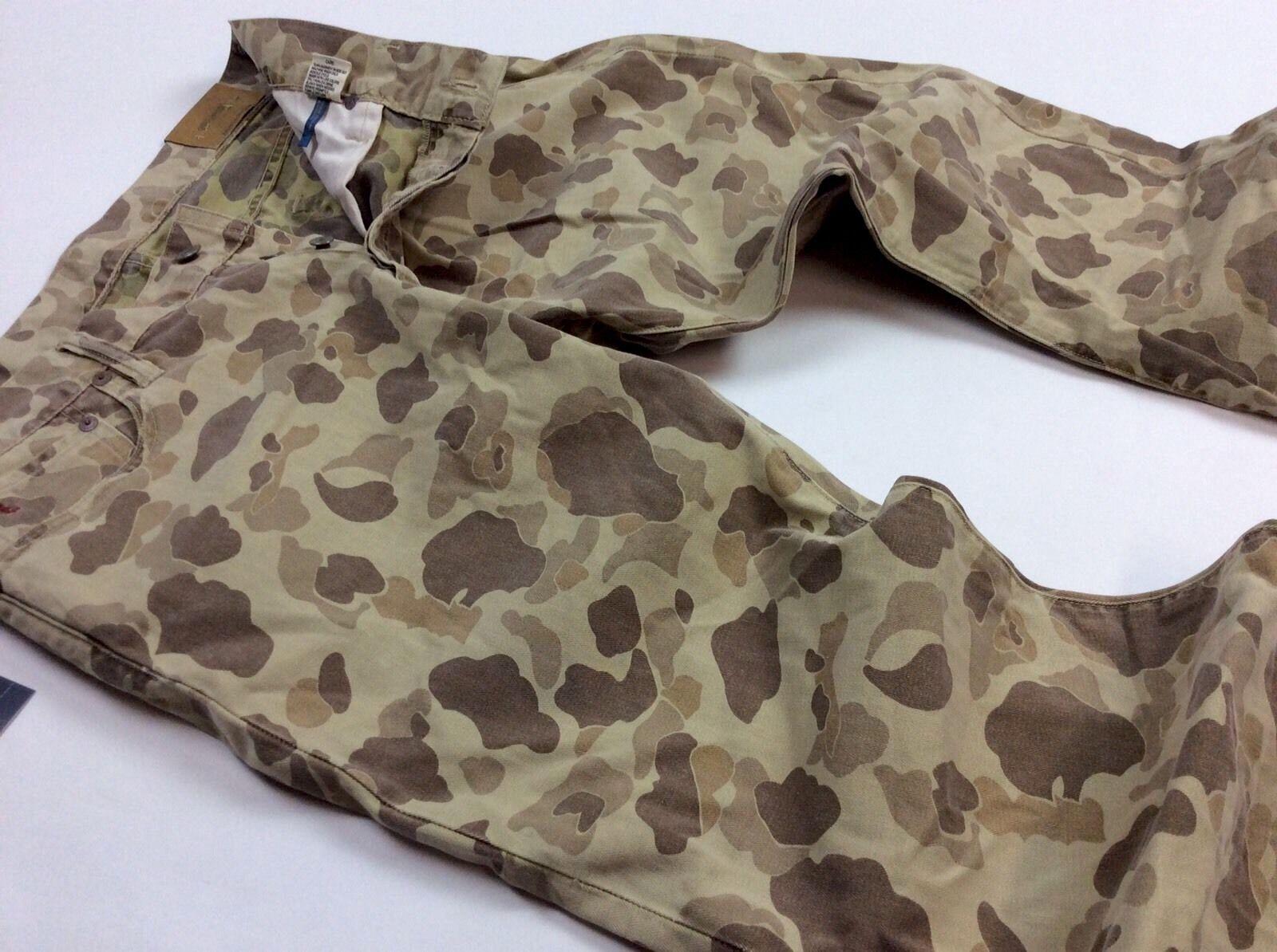 Polo Ralph Lauren Men Military USA Army Desert Safari Camo Stretch Slim Jeans
