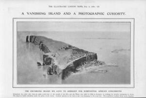 1908-Antique-Print-GERMANY-Heligoland-Vanishing-Island-Lighthouse-331