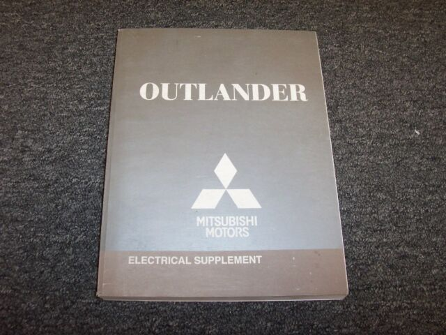 2009 Mitsubishi Outlander Electrical Wiring Diagram Manual