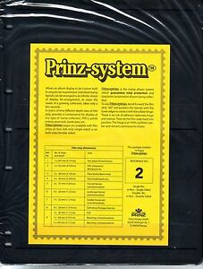 10 Prinz System 2 strip Single sided Pages stock sheet
