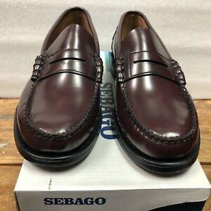 Sebago Mens Classic Hand Sewn Penny Loafer Cordovan 9E New ...