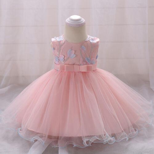 Toddler Baby Flower Girls Princess Birthday Party Dress Wedding Bridesmaid Gown