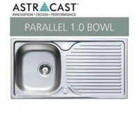 Astracast Parallel 1 Bowl Stainless Steel Kitchen Sink