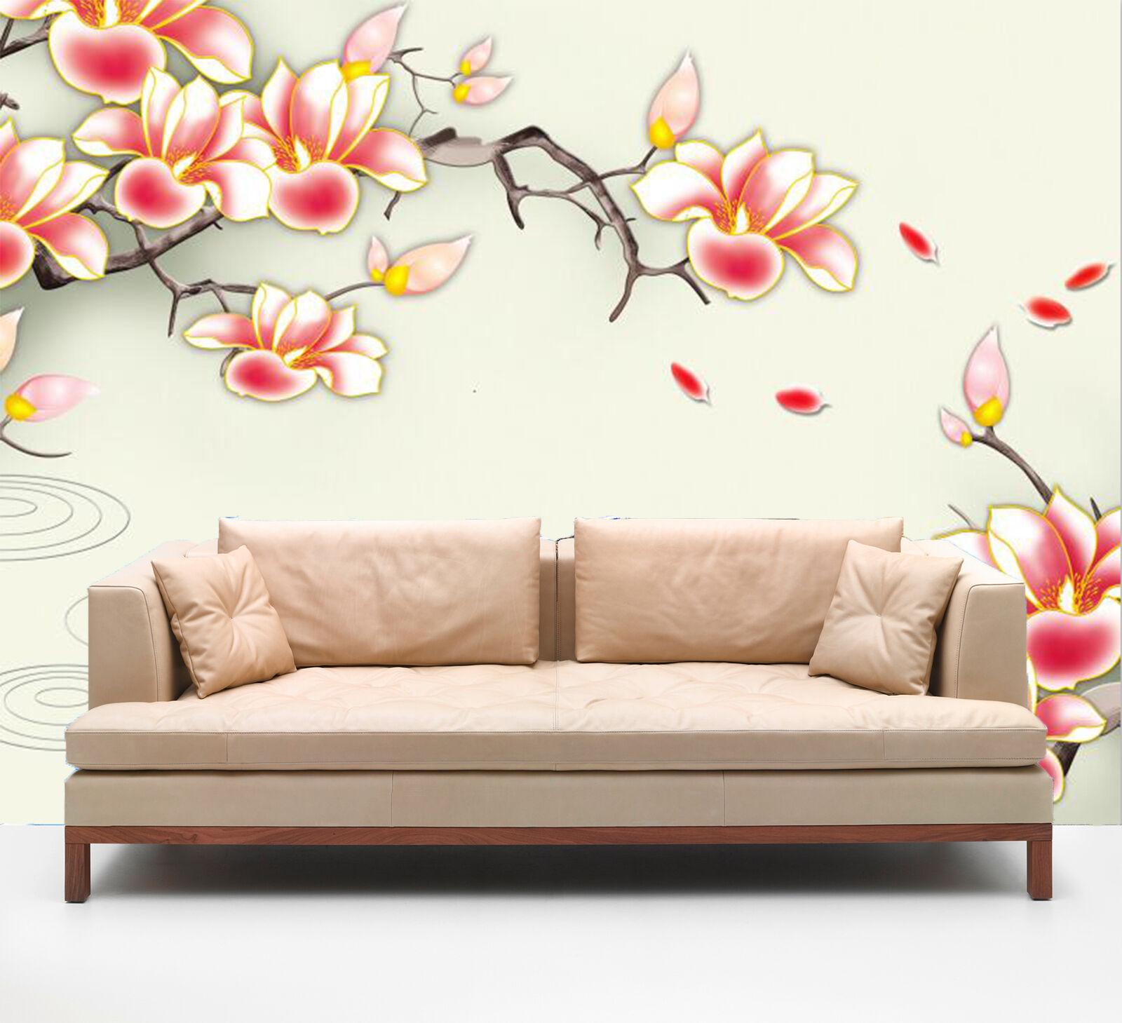 3D ROT petals 3667 Wall Paper Wall Print Decal Wall Deco Indoor Wall Murals