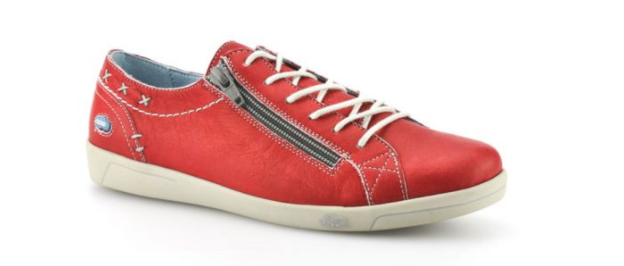 Cloud Aika  Leather  Red Sneakers Women's sizes 36-42 6-11NEW