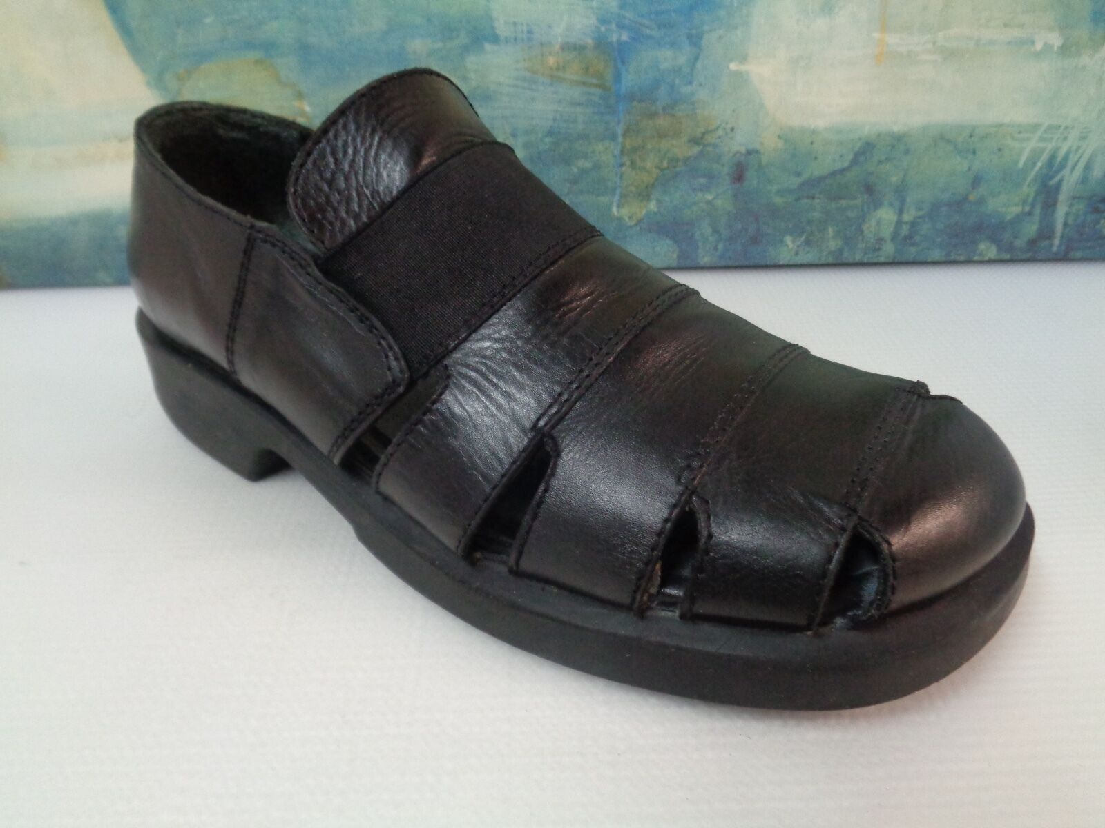GBX LEATHER MEN'S DRESS SANDAL SIZE 11 D made in Italy