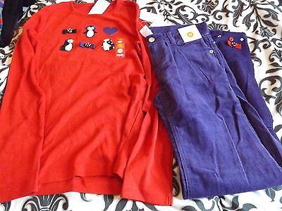 gymboree winter penguin corduroy pants shirt outfit size 12 nwt