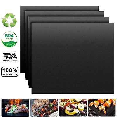 8 PCS XL BBQ Grill Baking Mats Reusable Non Stick Barbecue Grilling Sheets