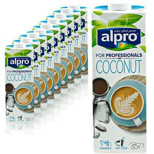 10x-ALPRO-di-noce-di-cocco-DRINK-Coconut-for-professionals-barista-1-L-per-schiuma