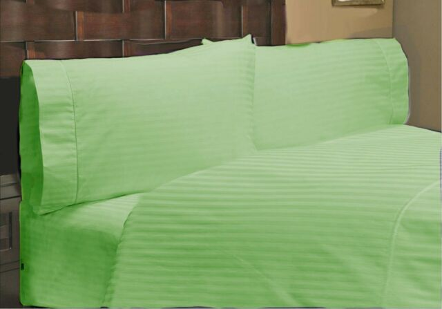 Bedding Collection 1000 Thread Count Egyptian Cotton US Sizes Sage Striped