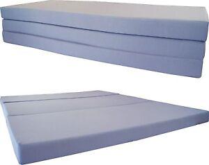 Queen Size Gray Trifold Floor Foam Beds 4x60x80 Ottoman Bed Density 1.8 lbs