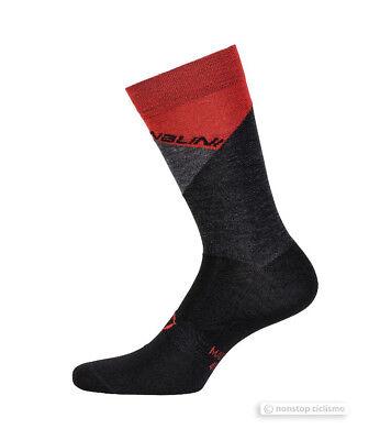 BLACK//RED Nalini PRO CRIT Merino Wool Warm Winter Cycling Socks One Pair